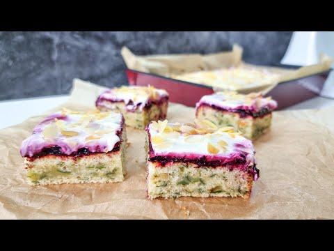 Ciasto ze szpinakiem i borówkami