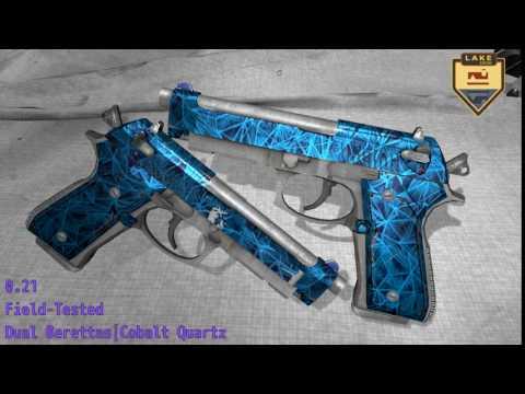 Dual Berettas  Cobalt Quartz  Wear/Float
