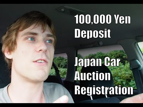 100,000 Yen Deposit for Japan Car Auction Registration