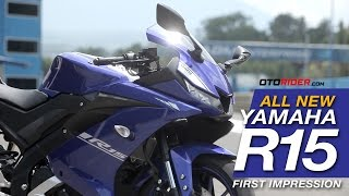 All New Yamaha R15 2017 First Impression - Indonesia (English SUbtitled) | OtoRider