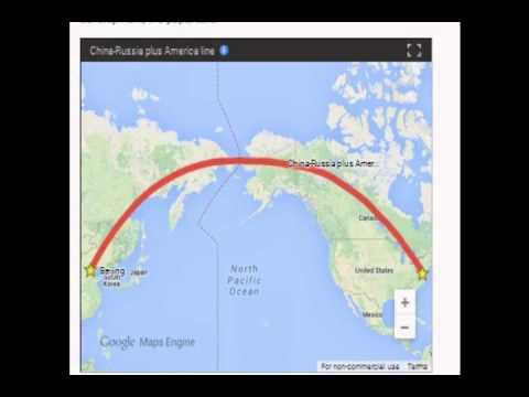 China Building Highspeed Rail Beijing To The United States YouTube - Us china map