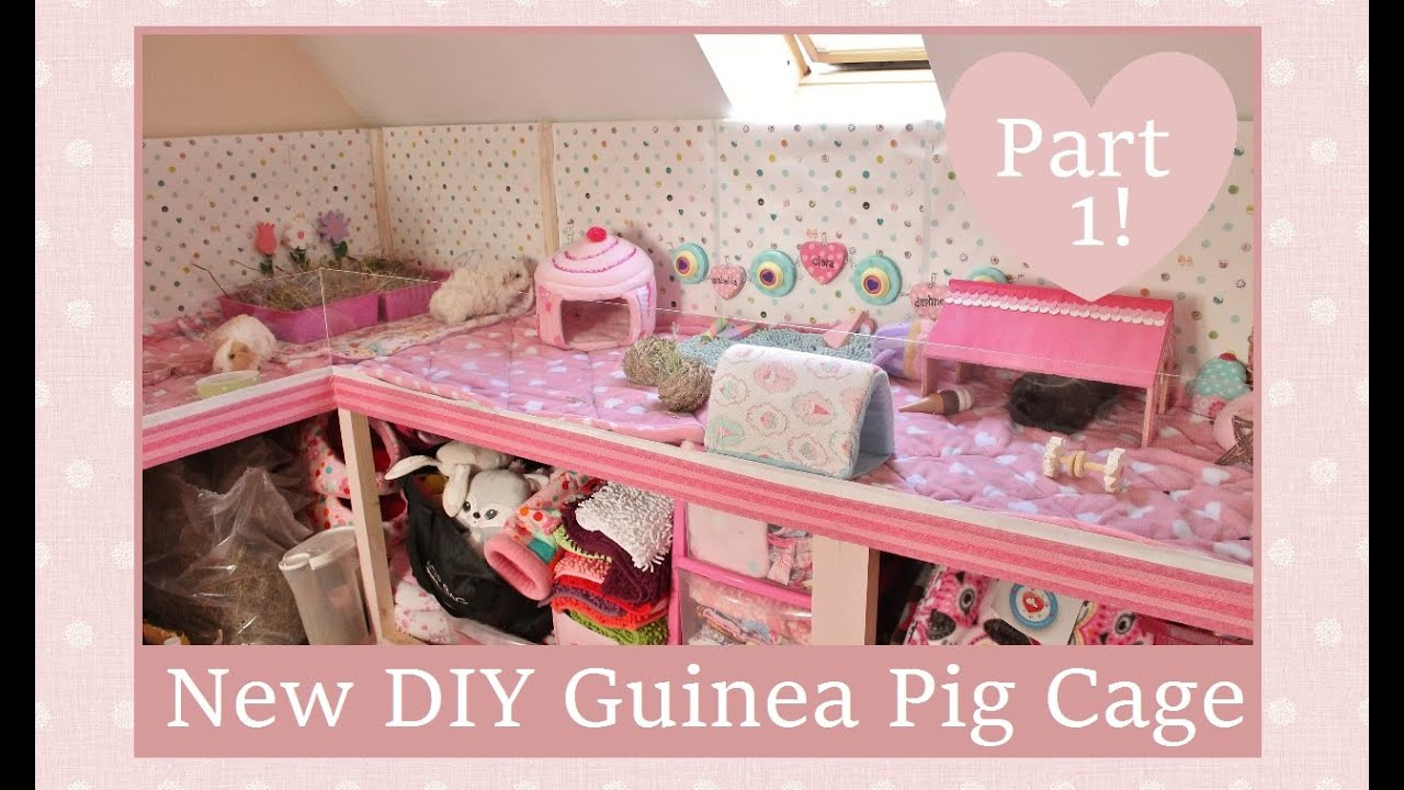 New improved diy guinea pig cage part 1 youtube for Diy guinea pig things