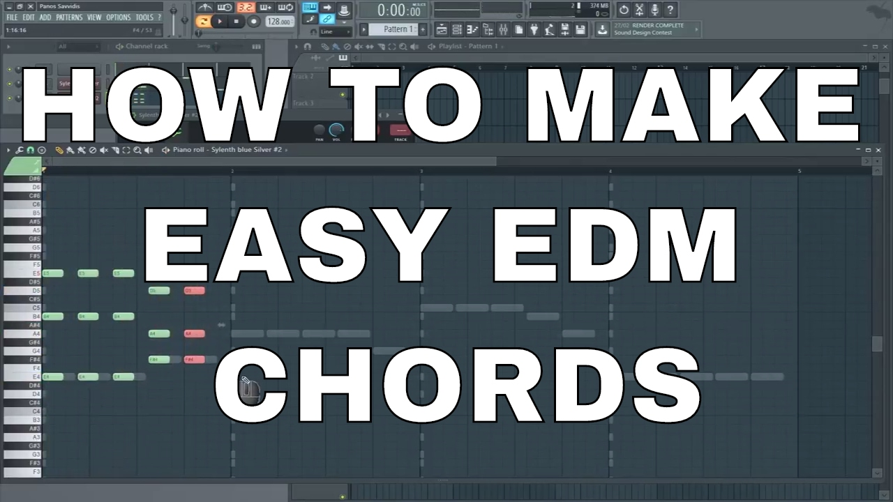 how to make edm chords and melody very easily youtube