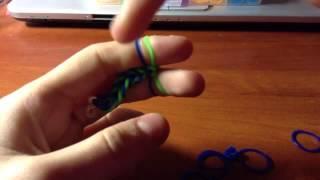 """Видео урок&1 плетение браслета из резинок""""рыбий хвост"""""""
