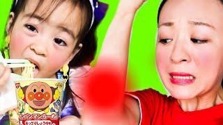 アンパンマンラーメンとプリキュアセレーネ The Boo Boo Song Pororo noodle 英語の歌 童謡 子供向け教育寸劇 幼児向けのキッズうた
