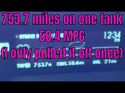 57.4 Mpg 2011 Prius   YouTube