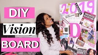 DIY Vision Board 2019 | ACHIEVE YOUR 2019 GOALS