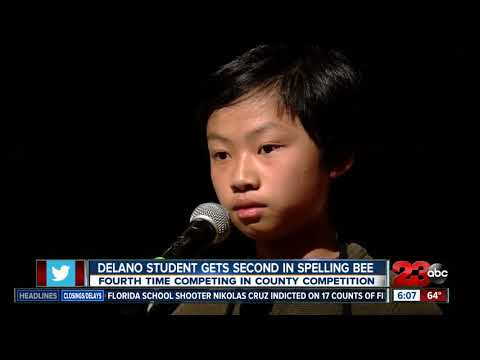 Delano middle schooler places second in spelling bee