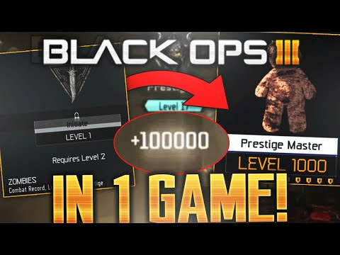 """LVL 1 to LVL 1000 in ONE GAME in Black Ops 3! """"Gorod Krovi"""" EASTER EGG INSTANT LEVEL 1000 GLITCH BO3"""