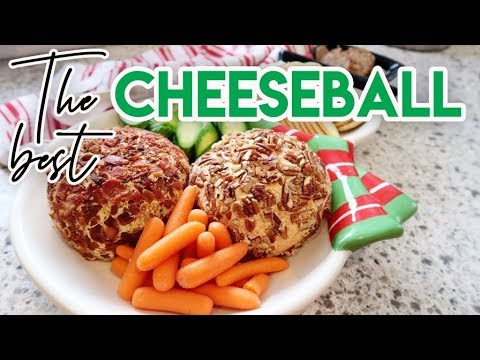 🎄-the-best-cheese-ball-for-your-holiday-appetizer!-🧀-cheddar-and-bacon-ranch-🥓-vlogmas-2019