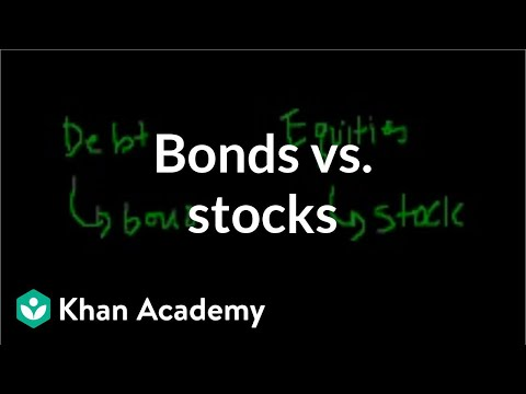 Bonds vs. stocks | Stocks and bonds | Finance & Capital Markets | Khan Academy