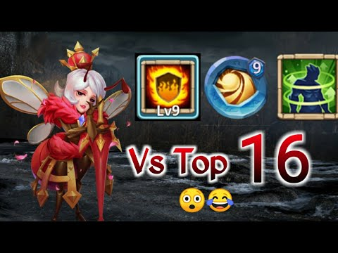 Queen Wasp Vs Top-16 | 9 Flame Guard | 9 Sacred Light | 5 Holy Conviction | Castle Clash