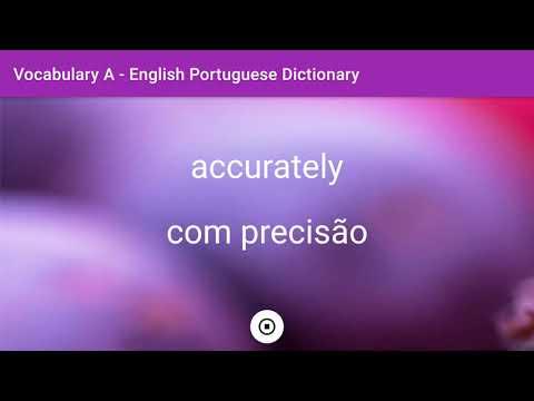 English - Portuguese Dictionary - Vocabulary A