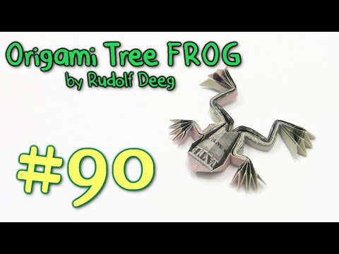 Cool Origami Frog Money - Yakomoga Dollar Origami Tutorial