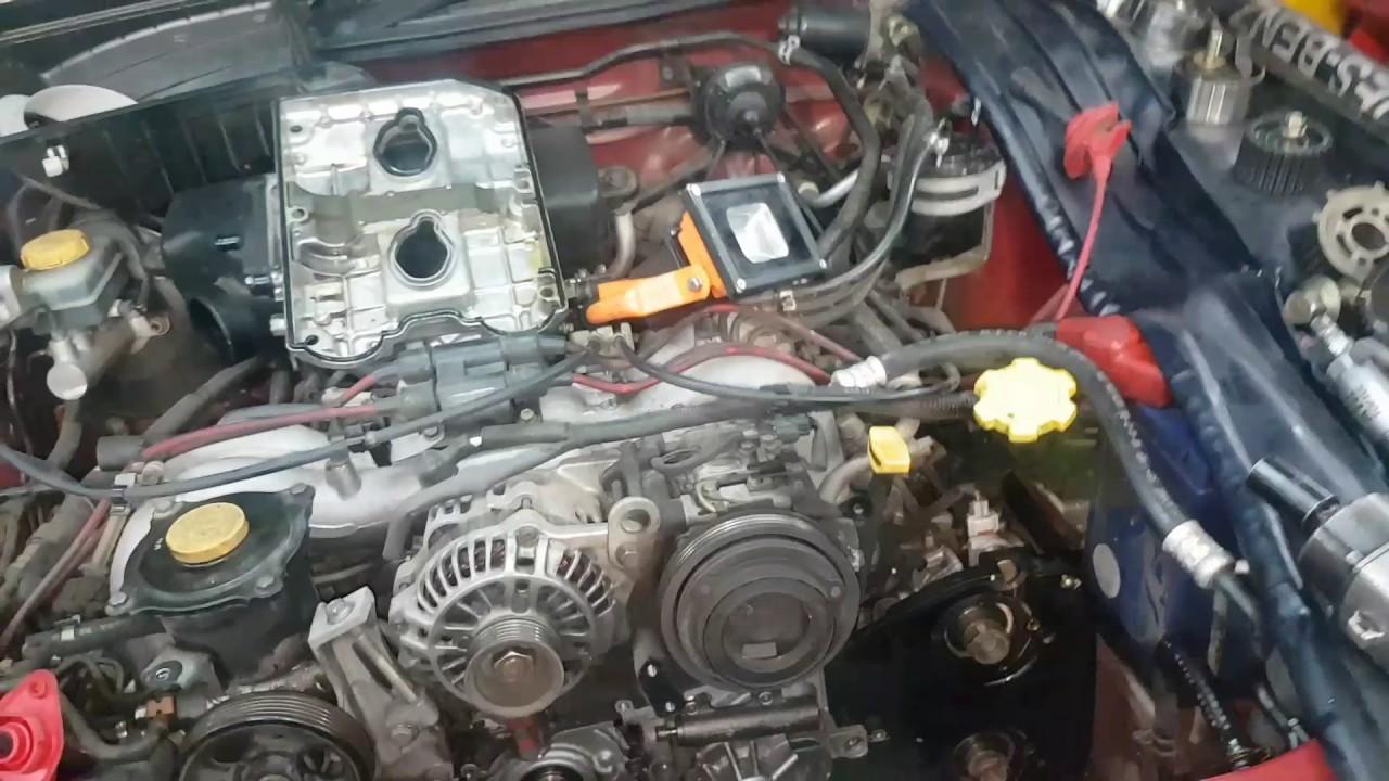 Subaru EJ25 camshaft bolt removal bolt too tight removing camshaft sproket  timing belt oil seals