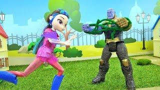 Куклы Сказочный патруль. Мультики для девочек. Как остановить Таноса