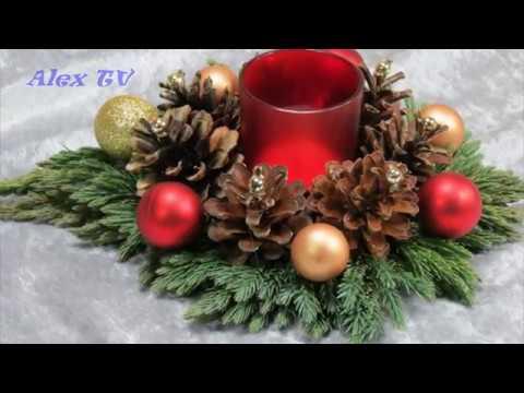 dekoration ideen f r weihnachten adventsgesteck mit teelichthalter selbst basteln youtube. Black Bedroom Furniture Sets. Home Design Ideas