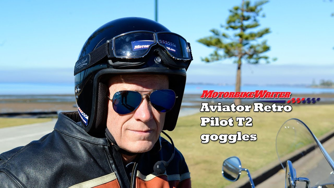 9c3300f8ec Aviator Retro Pilot T2 motorcycle goggles - Motorbike Writer