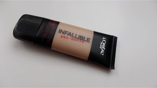 First Impression-New Loreal Infallible Pro Matte Foundation!!