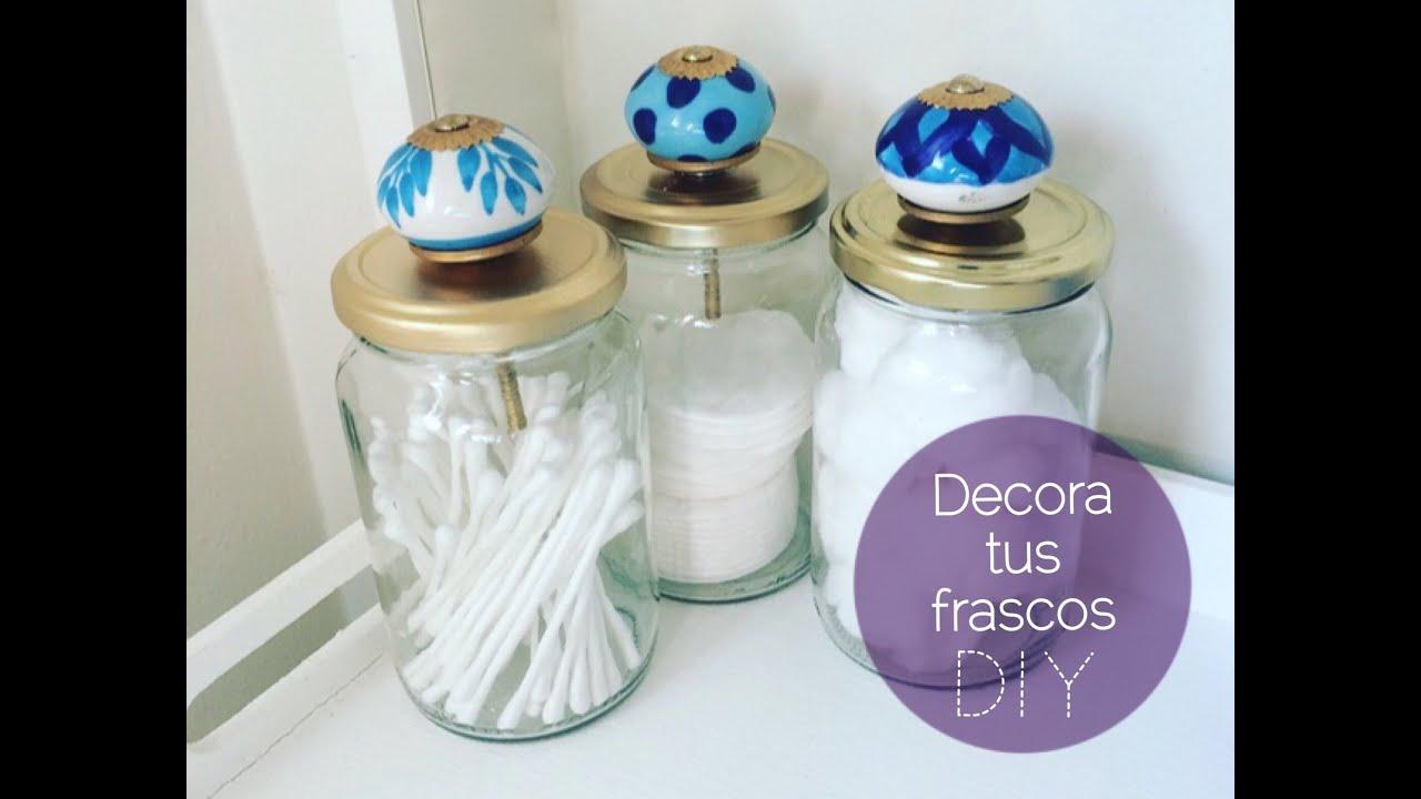 Decora frascos de vidrio diy youtube for Decoracion de frascos de vidrio para cocina