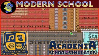 Academia School Simulator Speed Build | Big Modern School