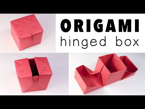 Origami Hinged Gift Box Tutorial - DIY - Paper Kawaii
