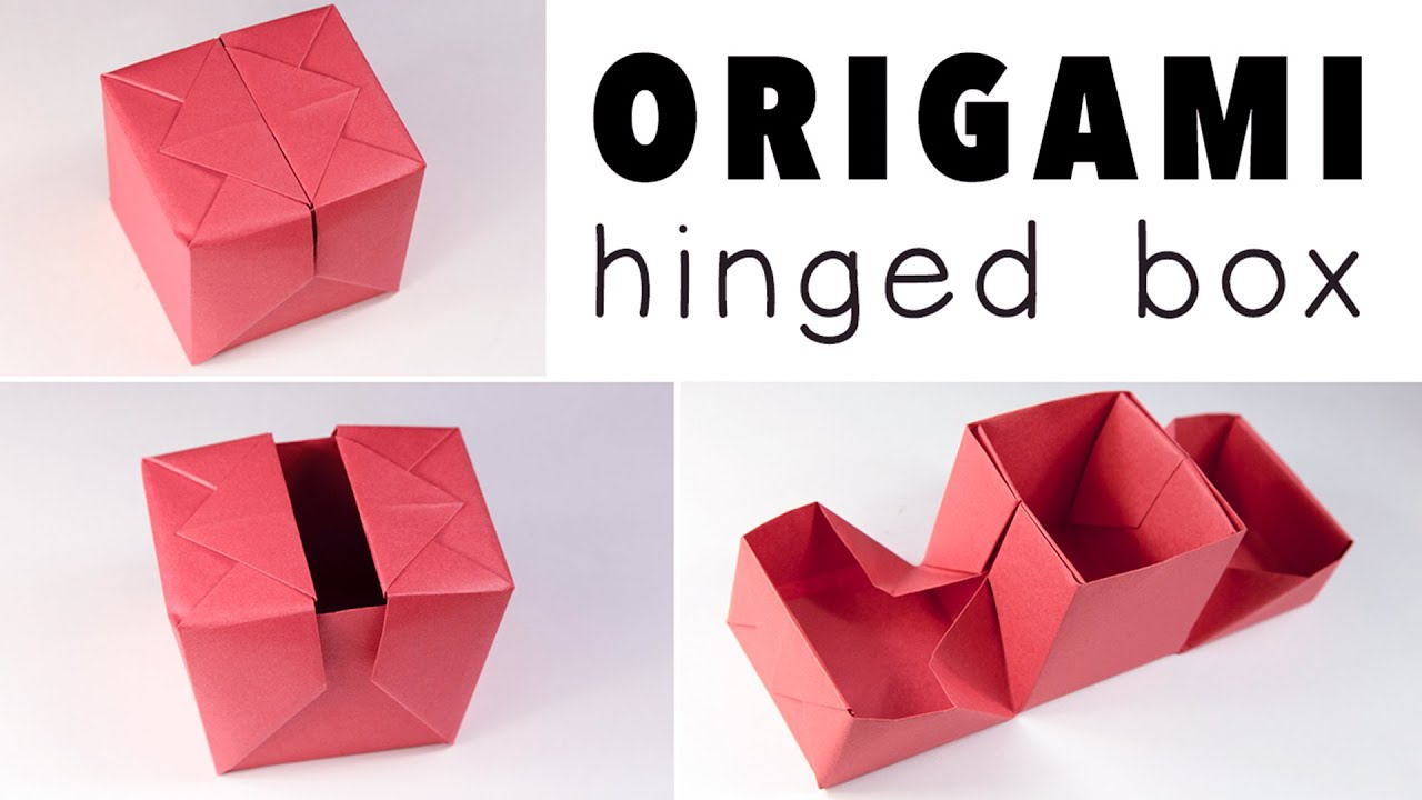 Origami Hinged Gift Box Tutorial DIY