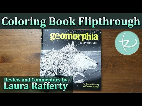 Coloring Book Flipthrough: Geomorphia by Kerby Rosanes - YouTube