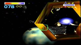 N64 - Star Fox 64 - Mission 2 - Meteo  - Asteroid Field