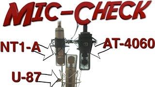 Video Big Mic-Check: Neumann U-87 vs Røde NT1-A vs Audio Technica AT-4060 | Mixpraxis (engl. subtitles) download MP3, 3GP, MP4, WEBM, AVI, FLV September 2018