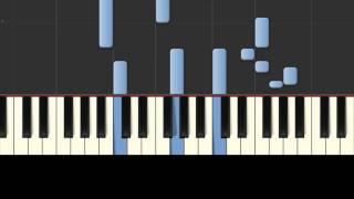 Скачать CJ AKO Слеза любви Synthesia красивая простая грустная мелодия игра на пианино Piano Tutorial