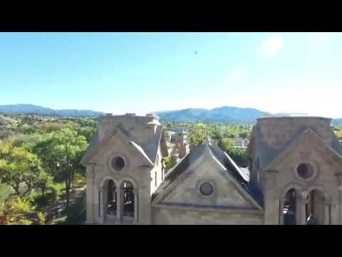 Sights of Santa Fe New Mexico - Aerial - Fall Colors