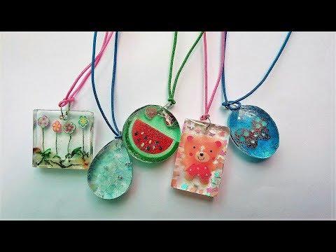 How to make pendants for kids - Resin art - Kids Pendants
