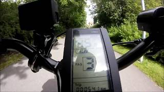 Elcykla i Göteborg Ebike Bafang 8fun bbs02 750w 48v Sram aut high speed test 54 km/h or 33,5 m/h
