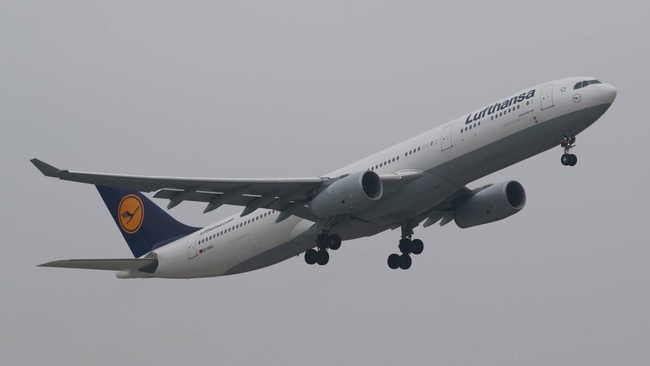 lufthansa airbus a330 343 d aikq departure at munich airport abflug munchen flughafen youtube