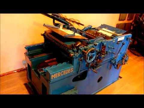 Typographical printing machine Mercedes