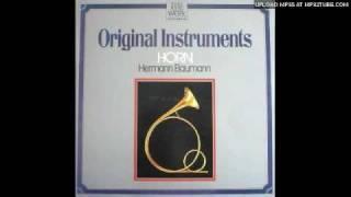 Gambar cover Hermann Baumann plays the Aria from J. S.  Bach Cantata BWV 14. Lp record.