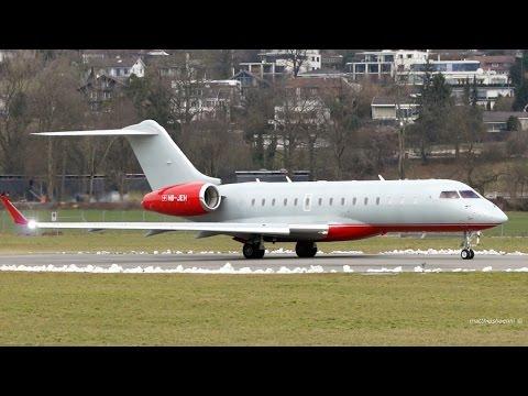 Great Looking! Bombardier BD700 Global 6000 Take-Off at Bern Airport