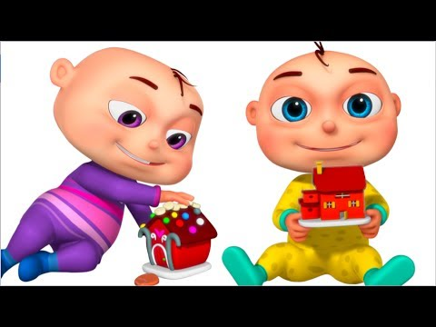 Five Little Babies Playing With Dough (Build House)   Videogyan 3D Rhymes   Original Learning Songs