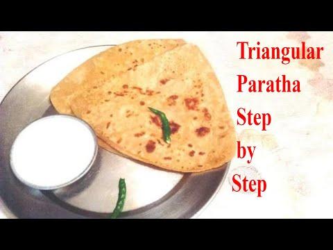 Triangle Paratha || Triangle Paratha Step by Step || Triangle Paratha Recipe in Hindi