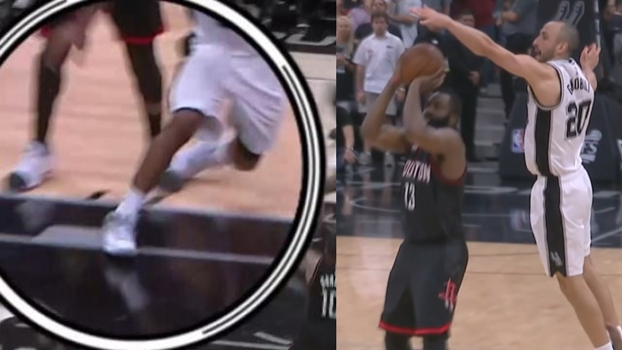 1c7baecb32f Manu Ginobili Blocks James Harden! Kawhi Leonard Injury