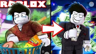 GOING FROM POOR TO RICH IN ROBLOX! (Roblox Bloxburg) - Une triste histoire Roblox