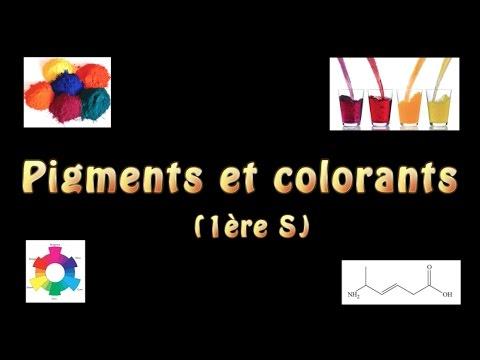 Pigments et colorants (1ère S)