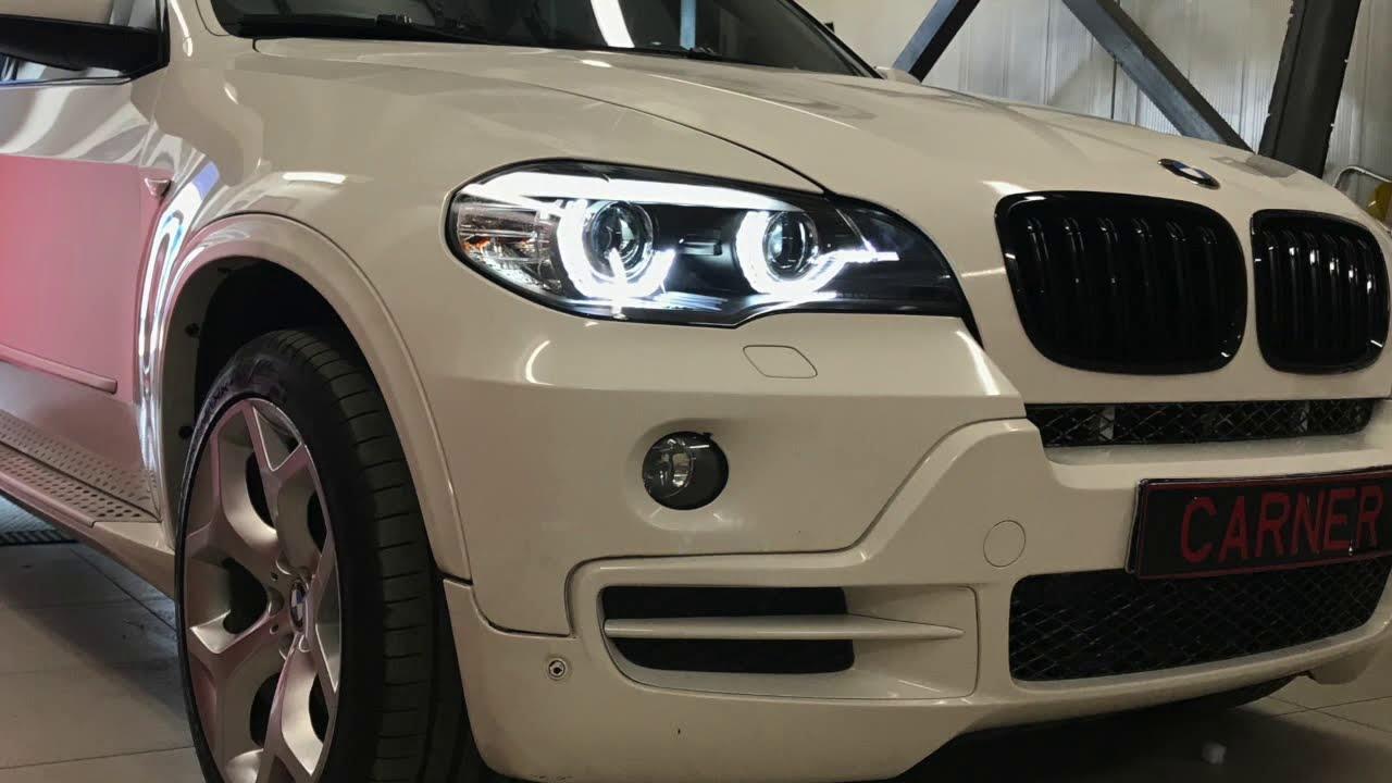 Bmw X5 E70 Headlights 4d Led Angel Eyes Tailights Led Bar Lci Look
