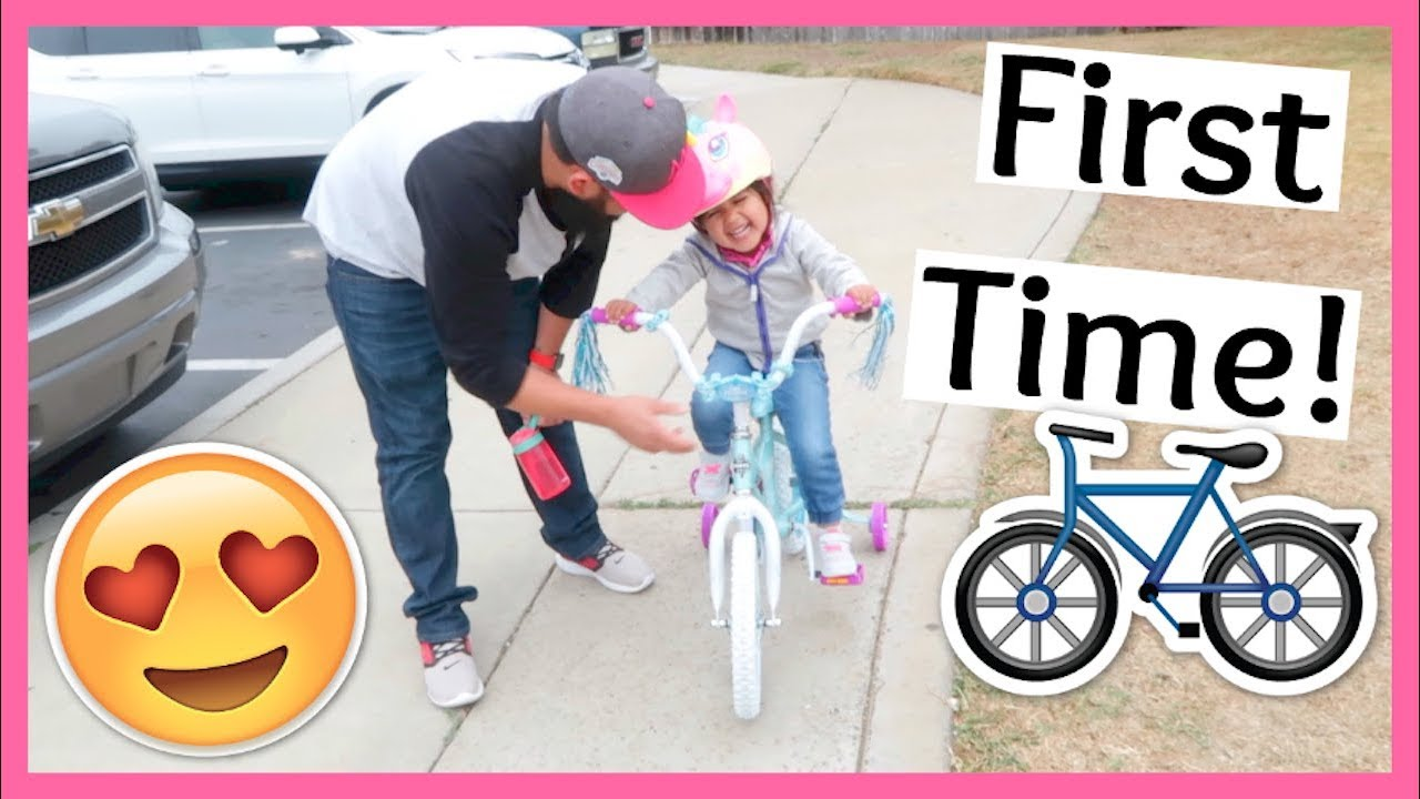 THREE YEAR OLD RIDES BIKE FOR FIRST TIME! | June 5, 2018 - YouTube