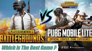PUBG Mobile Vs  PUBG Lite...All Differences In Both Games...