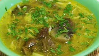Домашние видео рецепты - грибной суп с лапшой в мультиварке
