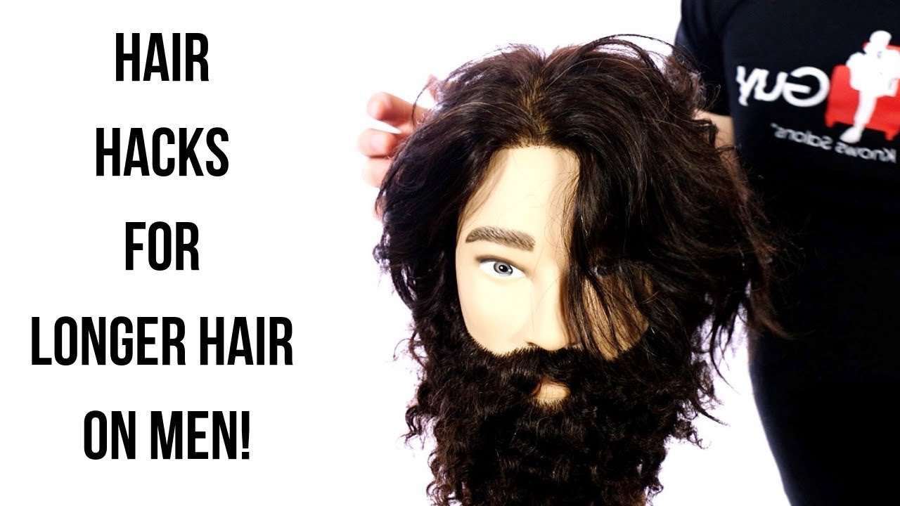 How To Style Longer Hair On Men Thesalonguy Youtube