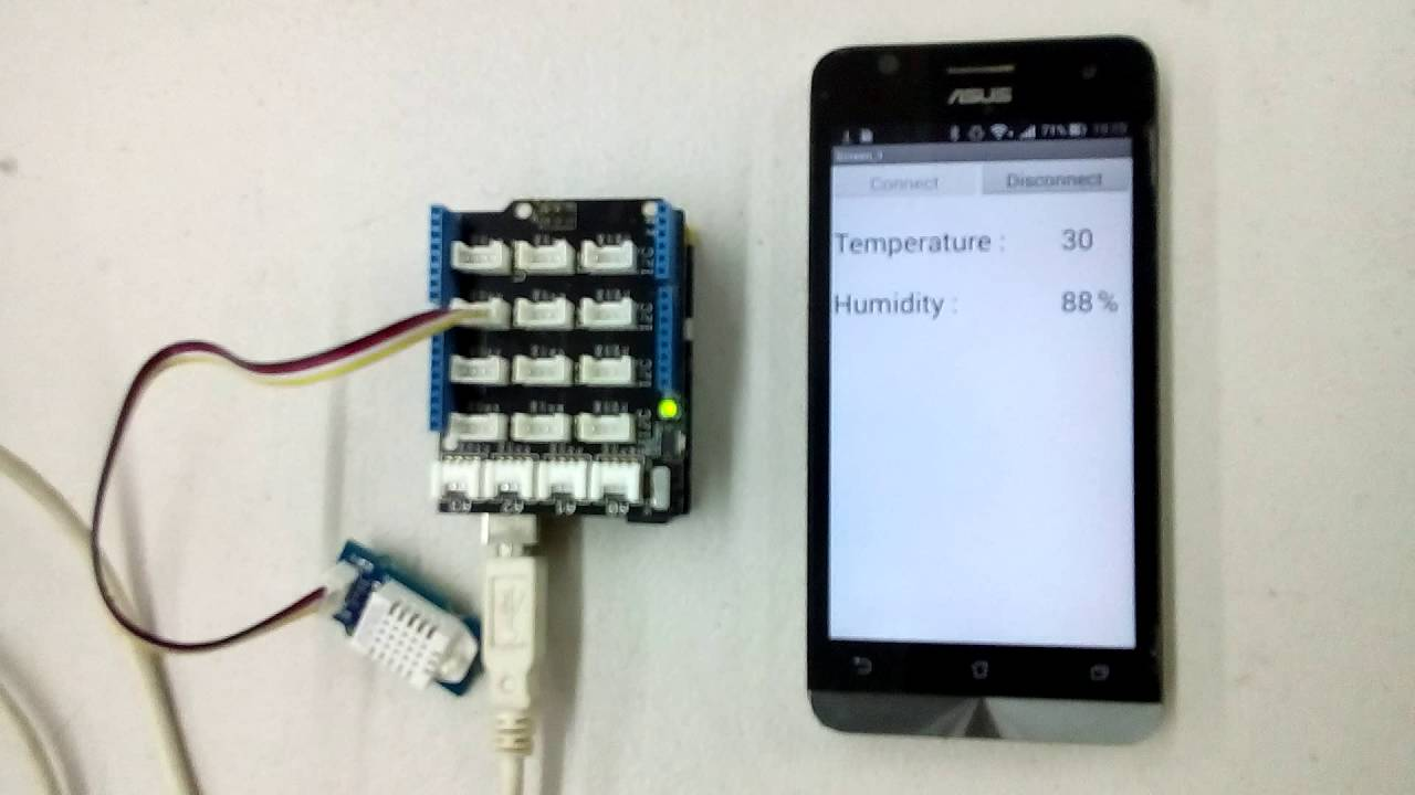 App Inventor IoT ] Lesson 5: Read DHT11 Temperature/Humidity
