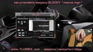 Как установить макрос Bloody 5 мышь Bloody | How to install the macro Bloody 4 ( mgn )